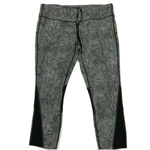 Nike Running Dri Fit Crop Leggings Zipper Pocket